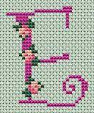 Small roses alphabet - free cross stitch patterns and charts - www.free-cross-stitch.rucniprace.cz