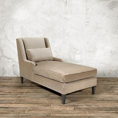 """Faye 30"""" Upholstered Chaise in Vernon Oat 
