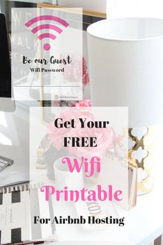 Get your FREE Printable Wifi Code Form to display in your Airbnb Home. Print it, write in your Code and Display it in a Frame. Provided by Dina Marie Joy your Airbnb Interior Designer.