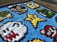 Geek Art Gallery: Crafts: Homemade Mario Quilt