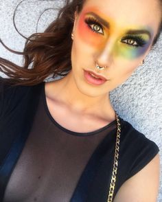 What's better than a unicorn frappuccino? AN ENTIRE RAINBOW FACE. https://www.youtube.com/watch?v=EeFKM2XxqwM   #pride #pride2017 #sfpride #nycpride #rainbowmakeup #makeuptutorial