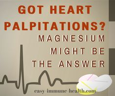 Magnesium for Heart Palpitations is A Well-Researched Winner - Got heart palpitations? Don't suffer any longer. Magnesium just might be the answer to your probl - Magnesium Vorteile, Magnesium Benefits, Leiden, Health Tips, Health And Wellness, Heart Disease Symptoms, Heart Palpitations, Atrial Fibrillation, Heart Health