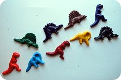 Recycled crayons made with candy molds. Would make a great gift, birthday party favor, etc.