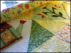 Molly Quilt- quilting WIP by Carla Barrett