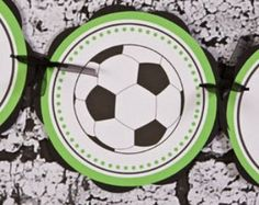 Soccer IT'S A BOY Baby Shower Banner, It's a Boy Baby Shower Decorations in Green & Black, Soccer Shower