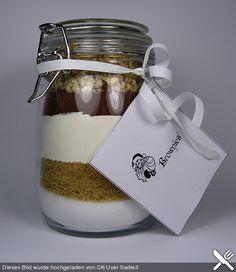 Brownie - Mix im Glas, ein sehr schönes Rezept aus der Kategorie Kuchen.