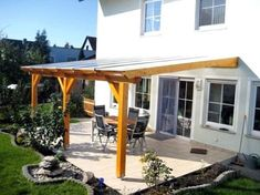 Pergola For Small Patio Pergola With Roof, Outdoor Pergola, Backyard Pergola, Patio Roof, Outdoor Spaces, Patio Awnings, Outdoor Patios, Modern Pergola, Pergola Attached To House