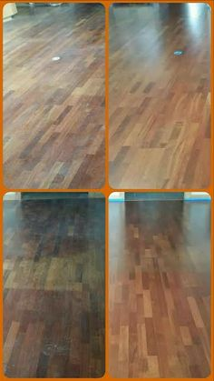 Wow this floor looks terrible check out the after photo www are they looking worn down discolored and dry our quick clean and non toxic process works on laminate as well as hardwood solutioingenieria Choice Image
