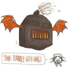 Think furnace with wings! Bofur is probably my favourite of the dwarrows :)