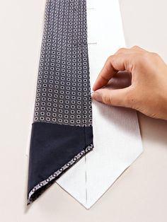 Krawatte simpel verarbeiten