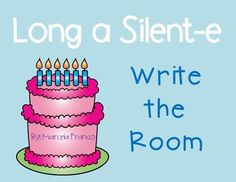 Long a Silent-e Write the Room by Marcela Franco- One Heart One Classroom First Grade Words, First Grade Reading, Silent E, Long Vowels, 1st Grade Worksheets, Sight Word Activities, Recording Sheets, Readers Workshop, Room Pictures