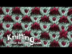 Knit Stitches -- Slip-stitch Crosses Stitch - YouTube