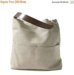 Hobo Tote Bag in Natural by IndependentReign on Etsy