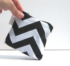 Chevron Pouch Coin Purse Change Wallet by SmiLeaGainCreations, $6.00