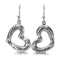 A Heartfelt statement  http://silverelementscollection.com/collection/honest-ill-wait-earrings