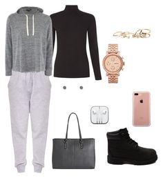 """""""Untitled #298"""" by kingrabia on Polyvore featuring Timberland, FOSSIL, GUESS, Forever 21, Belkin and Topshop"""