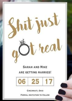 Browse unique wedding invitation ideas for modern brides | Funny Save the Date Invites