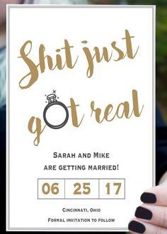 Browse unique wedding invitation ideas for modern brides | Funny Save the Date Invites