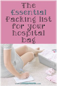 Knowing what to pack in your hospital bag can be tricky for a mom to be. Here are my essential items for during the delivery and postpartum which you should include on your packing list. #hospitalbag #pregnancy #hospitalbagessentials