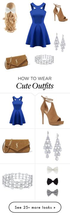 """""""Cute Fall Outfit"""" by ravenclawsnitch on Polyvore featuring ALDO, Chicnova Fashion, Yves Saint Laurent, Accessorize and Carolee"""