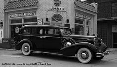 Gas Stations - Lafayette, Indiana - 1934 Cadillac.   My dad worked here as a young man.