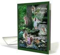 Wishing you Magic! Birthday Fairies greeting card