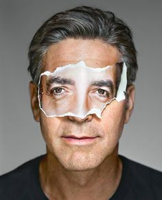 George Clooney with Mask, Brooklyn, NY