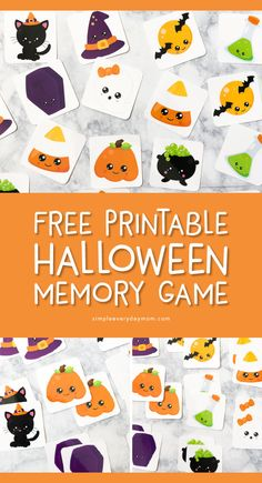 Free Printable Halloween Memory Game This Halloween themed matching game is perfect for preschoolers and kindergarten aged kids Its a great supplement for Halloween less. Halloween Tags, Printable Halloween, Theme Halloween, Fairy Halloween Costumes, Halloween Theme Preschool, Halloween Activities For Kids, Preschool Games, Lesson Plans For Preschool, Free Printables Preschool