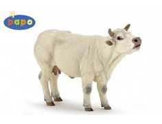 The Mooing Charolais Cow from the Papo Farm Animals collection - Discounts on all Papo Toys at Wonderland Models.    One of our favourite models in the Papo Farm range is the Papo Mooing Charolais Cow.    Papo manufacture wonderful, amazingly accurate models of all sorts of toy figures, particularly farm animals including this model of the Mooing Charolais Cow which can be complemented by any of the items in the Farm World range.