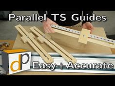 Quick Parallel Guides for your Track Saw - Simple & Accurate - YouTube
