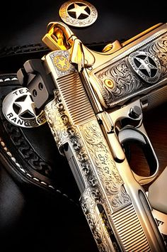 The Home of Quality Custom Firearms, Tactical Training and The Tactical Marksman's Match. Anime Weapons, Weapons Guns, Guns And Ammo, Custom 1911, Custom Guns, Texas Rangers, Rangers Baseball, Fire Powers, Leather Holster