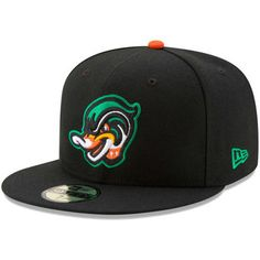 New Era Down East Wood Ducks Black Home Authentic Collection On-Field 59FIFTY  Fitted Hat c20e9f051e5