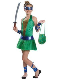 Teenage Mutant Ninja Turtles Leonardo Costume for Teen Girls - Party City so amazing and so cute