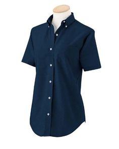 Van Heusen - Ladies' Short-Sleeve Wrinkle-Resistant Oxford Van Heusen. $25.95