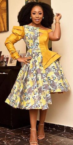 Latest Stylish Ankara Styles we have for you today will serve as your guideline when next you pay a Ankara Short Gown, Short African Dresses, Short Gowns, Latest African Fashion Dresses, African Print Fashion, Ankara Fashion, African Prints, Ankara Gowns, Ankara Dress