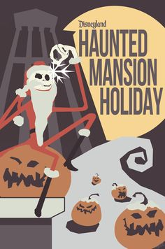 Haunted Mansion Holiday - Artwork by Tony Sherg- The Disneyland Minimalist…