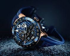 #Ulysse Nardin is bringing the Toro Blue to 99 rightful owners. #The blue and gold combination is carried through the watch face and is quite the eye-catcher.