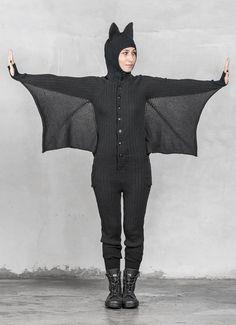 Bat pajama onesie