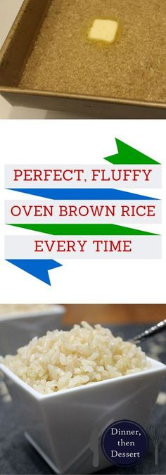 A perfect every time Baked Brown Rice that you set a timer on and forget about for an hour. Then you have delicious, fluffy brown rice.