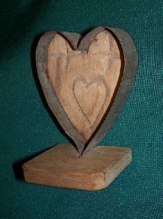 RARE ANTIQUE PRIMITIVE CARVED WOODEN HEART MAPLE SUGAR MOLD  | eBay  sold  261.00