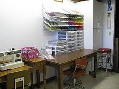 My craft room - view 3. There is no view 4 since it is basically just an open doorway into the rest of the basement,.