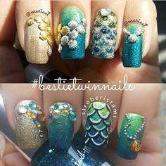 @brutavaresppf quando vi essas unhas lembrei dos anéis da @ludoraboutique coleção do sereias noturnas . Tão a cara do #pausaparafeminices  #blogueirassp #BlogAnaAraujo #sereiasnoturnas #ludora #aneis #nailart #sereia