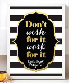 Love this 'Work For it' Personalized Print on #zulily! #zulilyfinds