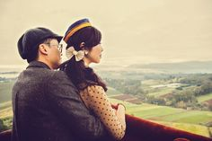 Hot Air balloon engagement session by Finessence Photography