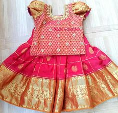 Lehangas Indian Dresses For Kids, Dresses Kids Girl, Kids Outfits, Baby Dresses, Baby Lehenga, Kids Lehenga, Designer Kids Wear, Designer Dresses, Kids Ethnic Wear