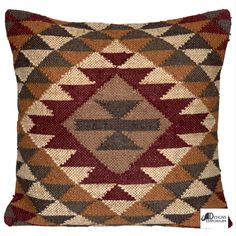 Floor Cushion Cover. This cushion cover is made from a small hamd woven rug by hand knotting Jute and Cotton yarns by our very skilled artisans in India. The Cushion Cover is 24 inches x 24 inches (60x60cm). Hard wearing Kilim front and Cotton back with a Zip.