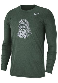 82ab7e91a Nike Michigan State Spartans Green Triblend Retro Long Sleeve Fashion T  Shirt - 125100318