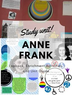 Celebrate Anne Frank's 90th birthday 12 June #AnneFrank #Anne90 #lapbooks #studyunit
