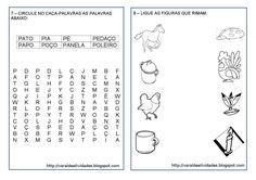atividades sibalica com a letra P caça palavras