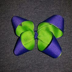 #HairBow #Green #Purple